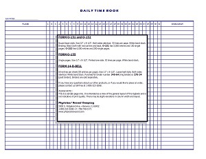 O-152  Daily Time Book